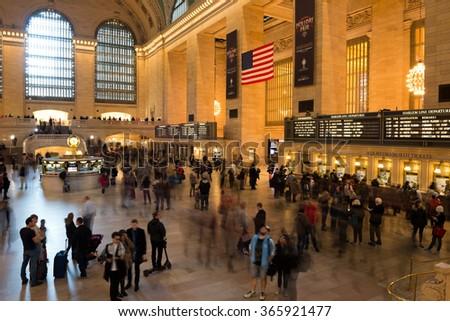 New York City, USA - November 25, 2015: New York Grand Central Station in New York City. - stock photo