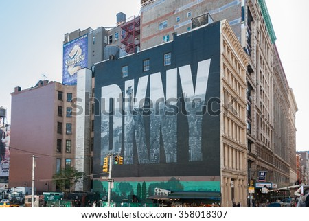 NEW YORK CITY, USA - Oct 26, 2008: Americas most powerful place NYC situated on one of the world's largest natural harbors with five boroughs � Brooklyn, Queens, Manhattan, the Bronx, Staten Island - stock photo