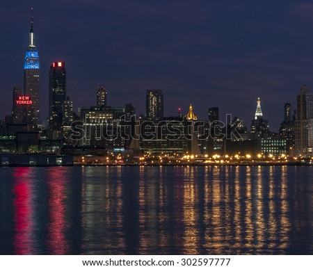 NEW YORK CITYSCAPE - July 30, 2015: Cityscape view of NYC, New York City, USA. - stock photo
