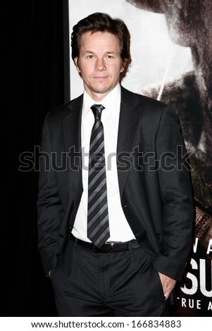"NEW YORK-DEC 3: Actor Mark Wahlberg attends the premiere of ""Lone Survivor"" at the Ziegfeld Theatre on December 3, 2013 in New York City. - stock photo"
