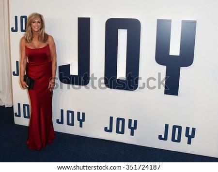 "NEW YORK-DEC 13: Joy Mangano attends the ""Joy"" premiere at the Ziegfeld Theatre on December 13, 2015 in New York City. - stock photo"