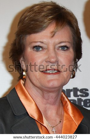 NEW YORK-DEC 6: University of Tennessee Lady Vols head coach Pat Summitt at the 2011 Sports Illustrated Sportsman of the Year award presentation at IAC Building on December 6, 2011 in New York City. - stock photo