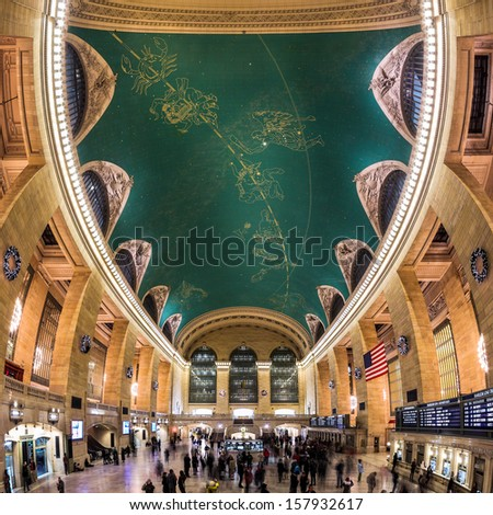 NEW YORK - DECEMBER 25: Grand Central Terminal interior on December 25, 2012 in New York.  - stock photo