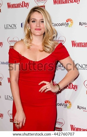 NEW YORK-FEB 10, 2015: TV personality Daphne Oz attends the 12th Annual Woman's Day Red Dress Awards at Jazz at Lincoln Center on February 10, 2015 in New York City. - stock photo