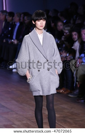 NEW YORK - FEBRUARY 18: Mercedes-Benz Fashion Week presents Tommy Hilfiger collections at Bryant Park on February 18, 2010 in New York City. - stock photo
