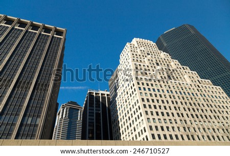 New York high buildings - stock photo