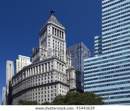 New York, historic and modern architecture - stock photo