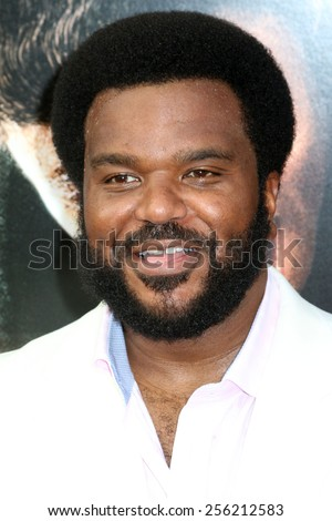 "NEW YORK - JULY 21, 2014: Craig Robinson attends the premiere of ""Get On Up"" at the Apollo Theater on July 21, 2014 in New York City. - stock photo"