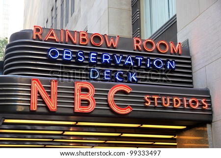 NEW YORK - JULY 15: NBC studio on July 15, 2011 in New York. Formed in 1926, NBC was the first major broadcast network in the United States. - stock photo