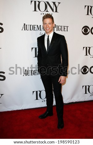 NEW YORK-JUNE 8: Actor Barrett Foa attends American Theatre Wing's 68th Annual Tony Awards at Radio City Music Hall on June 8, 2014 in New York City. - stock photo