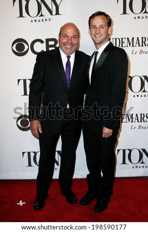NEW YORK-JUNE 8: Actor Casey Nicolaw (L) and husband Josh Marquette attend American Theatre Wing's 68th Annual Tony Awards at Radio City Music Hall on June 8, 2014 in New York City. - stock photo