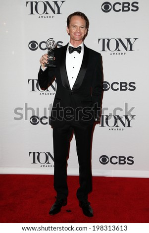 NEW YORK-JUNE 8: Actor Neil Patrick Harris poses in the press room at the American Theatre Wing's 68th Annual Tony Awards at Radio City Music Hall on June 8, 2014 in New York City. - stock photo