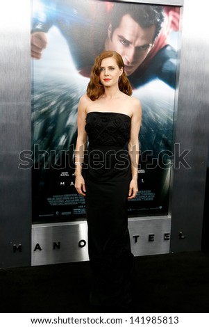 "NEW YORK-JUNE 10: Actress Amy Adams attends the world premiere of ""Man of Steel"" at Alice Tully Hall at Lincoln Center on June 10, 2013 in New York City.  - stock photo"