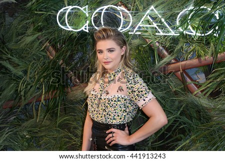 NEW YORK-JUNE 22: Chloe Grace Moretz attends the 2016 Coach And Friends Of The High Line Summer Party at The High Line on June 22, 2016 in New York City. - stock photo