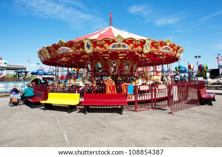 NEW YORK - JUNE 27: Coney Island is known especially for its amusement park. It'a a peninsula and beach on the Atlantic Ocean in southern Brooklyn New York, June 27, 2012. - stock photo