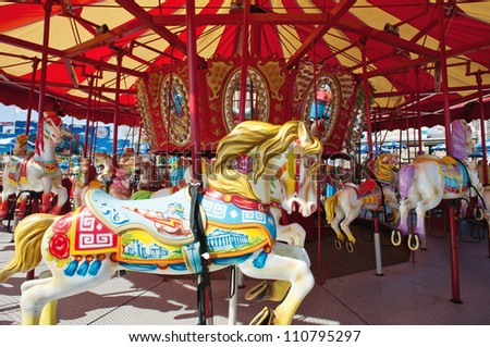 NEW YORK - JUNE 27: Coney Island is known especially for its amusement park. It's a peninsula and beach on the Atlantic Ocean in southern Brooklyn New York, June 27, 2012. - stock photo