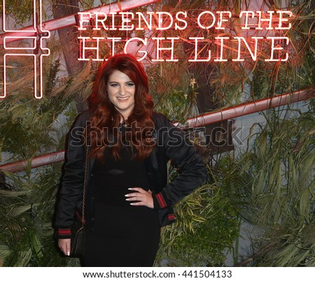 NEW YORK-JUNE 22: Meghan Trainor attends the 2016 Coach And Friends Of The High Line Summer Party at The High Line on June 22, 2016 in New York City. - stock photo
