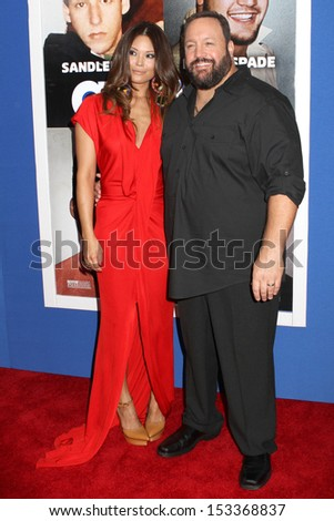 """NEW YORK - JUNE 10: Steffiana de la Cruz and Kevin James attend the premiere of """"Grown Ups 2"""" at AMC Lincoln Square on June 10, 2013 in New York City. - stock photo"""