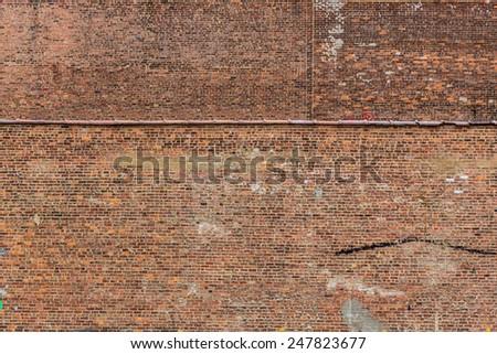 New York Manhattan grunge brick wall brickwall texture US - stock photo