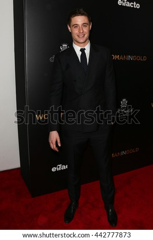 "NEW YORK-MAR 30: Actor Max Irons attends the ""Woman In Gold"" New York premiere, in conjunction with The Carlyle and ef+facto at the Museum of Modern Art on March 30, 2015 in New York City. - stock photo"