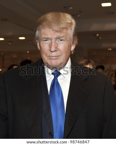 NEW YORK - MARCH 28: Donald Trump attends the Ivanka Trump New Ready-To-Wear Collection launch at Lord & Taylor on March 28, 2012 in New York City. - stock photo
