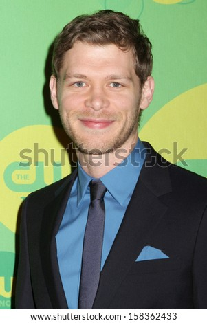 NEW YORK - MAY 16: Joseph Morgan attends the 2013 CW Upfront Presentation at The London Hotel on May 16, 2013 in New York City. - stock photo