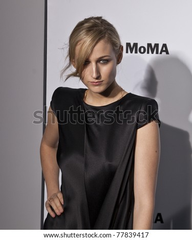 NEW YORK - MAY 23: Leelee Sobieski attends the MoMA launch of partnership between Volkswagen and Museum of Modern Art on May 23, 2011 in New York City - stock photo