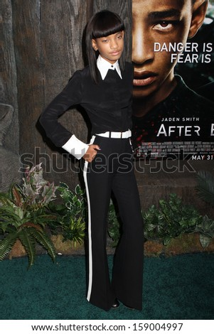 """NEW YORK - MAY 29: WIllow Smith attends the premiere of """"After Earth"""" at the Ziegfeld Theatre on May 29, 2013 in New York City.  - stock photo"""