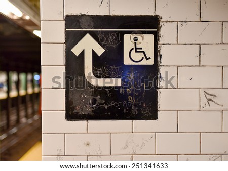 NEW YORK, NEW YORK - JANUARY 10, 2015: Union Square Subway Station sign in Manhattan. - stock photo