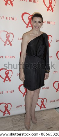 NEW YORK - NOVEMBER 09: Julianna Margulies attends Love Heals The Alison Gertz Foundation For AIDS Education 20th Anniversary gala at the Four Seasons Restaurant on November 9, 2011 in New York City, NY. - stock photo