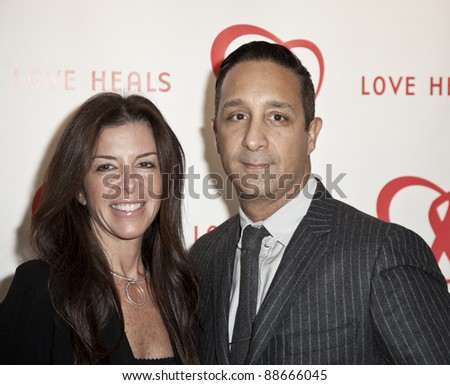 NEW YORK - NOVEMBER 09: Stefani Greenfield, Jeff Mahshie attend Love Heals The Alison Gertz Foundation For AIDS Education 20th Anniversary gala at the Four Seasons Restaurant on November 9 2011 in New York City, NY. - stock photo