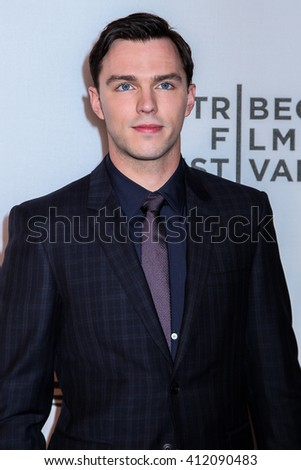 NEW YORK, NY - APRIL 18: Actor Nicholas Hoult  attends 'Equals' Premiere -2016 Tribeca Film Festival at John Zuccotti Theater at BMCC Tribeca Performing Arts Center on April 18, 2016 in New York City. - stock photo