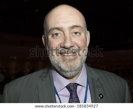NEW YORK, NY - APRIL 06, 2014: Israeli Ambassador Ron Prosor attends Jerusalem Post Annual Conference in Marriott Marquis Times Square - stock photo