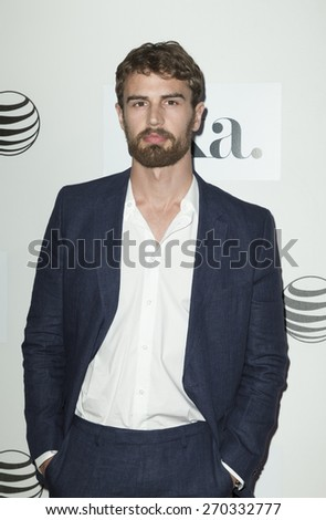 New York, NY - April 17, 2015: Theo James attends Tribeca Film Festival premiere of Franny film at BMCC Tribeca Performing Arts Center - stock photo