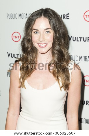New York, NY - August 12, 2015: Lyndon Smith attend the Public Morals New York series screening at Tribeca Grand Hotel Screening Room - stock photo