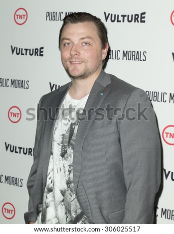 New York, NY - August 12, 2015: Patrick Murney attend the Public Morals New York series screening at Tribeca Grand Hotel Screening Room - stock photo