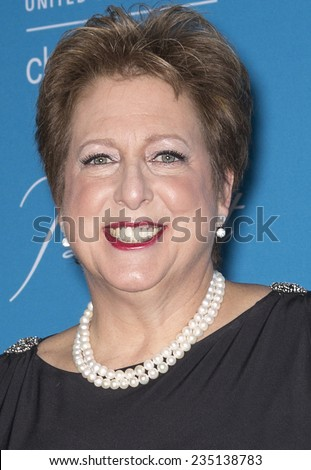 New York, NY - DECEMBER 02, 2014: President and CEO of U.S. Fund for UNICEF Caryl Stern attends the 10th Annual Unicef Snowflake Ball at Cipriani Wall Street - stock photo