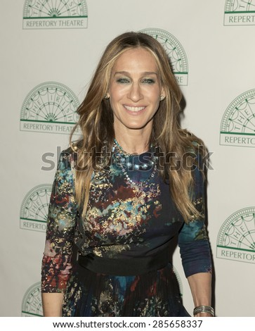 New York, NY - June 08, 2015: Sarah Jessica Parker attends the Irish Repertory Theatre's YEATS: The Celebration at Town Hall - stock photo