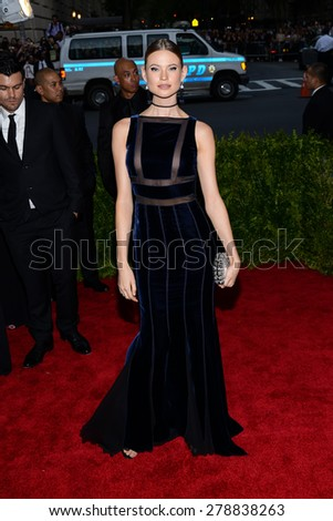 New York, NY  Monday May 04, 2015: Behati Prinsloo attends 'China: Through The Looking Glass' Costume Institute Gala, held at the Metropolitan Museum of Art in New York City, New York. - stock photo