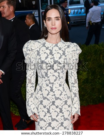 New York, NY  Monday May 04, 2015: Jennifer Connelly attends 'China: Through The Looking Glass' Costume Institute Gala, held at the Metropolitan Museum of Art in New York City, New York. - stock photo