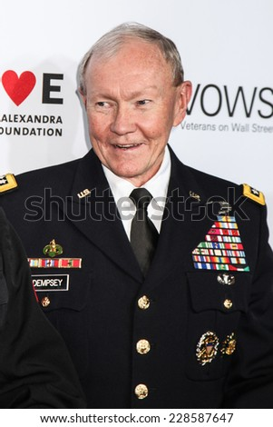 NEW YORK, NY - NOVEMBER 05: Chairman of the Joint Chiefs of Staff Gen. Martin Dempsey attend at Stand Up For Heroes at Madison Square Garden on November 5, 2014 in New York City. - stock photo