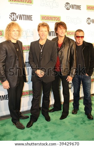 """NEW YORK, NY - OCTOBER 21: Bon Jovi attends the Bon Jovi film """"When we were beautiful"""" premier on October 21, 2009 in New York City. - stock photo"""