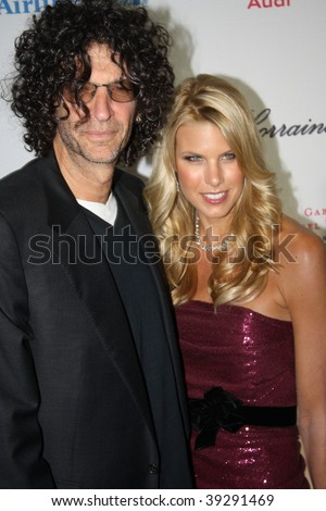 NEW YORK, NY - OCTOBER 20: Howard Stern (L) and Beth Ostrosky Stern (R) attend the 2009 Angel Ball on October 20, 2009 in New York City. - stock photo