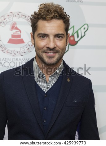 New York, NY - October 23, 2014: Singer David  Bisbal attends Latin Grammy Acoustic Sessions at Broad Street Ballroom - stock photo