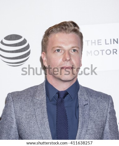 New York, NY, USA - April 20, 2016: Actor David Menkin attends the 'A Hologram For The King' premiere during the 2016 Tribeca Film Festival at the John Zuccotti Theater at BMCC Tribeca PAC - stock photo