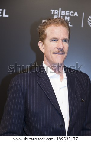 New York, NY, USA - April 26, 2014: Actor Matthew Modine attends the closing night gala premiere of 'Begin Again' during the 2014 Tribeca Film Festival at BMCC Tribeca PACr in New York City - stock photo