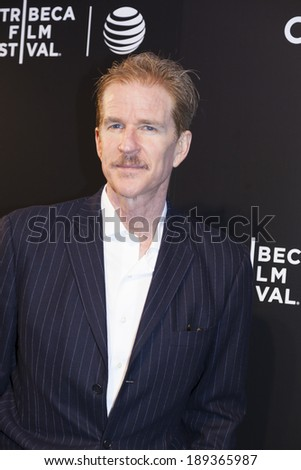 New York, NY, USA - April 26, 2014: Actor Matthey Modine attends the closing night gala premiere of 'Begin Again' during the 2014 Tribeca Film Festival at BMCC Tribeca PACr in New York City - stock photo