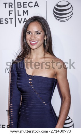 New York, NY, USA - April 19, 2015: Ballet dancer Misty Copeland attends the premiere of 'A Ballerina's Tale' during the 2015 Tribeca Film Festival at BMCC Tribeca PAC, Manhattan - stock photo