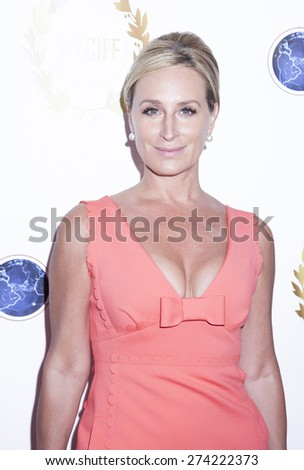 New York, NY, USA - April 30, 2015: Sonja Morgan attends world premiere of documentary film A Journey to Taiwan during NYC International Film Festival at the DGA Theatre, Manhattan - stock photo