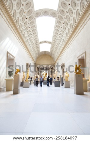 New York, NY, USA - March 29, 2012: Metropolitan Museum: Housing over 2 million works of art, the Metropolitan Museum of Art is one of the biggest museums in the world. - stock photo